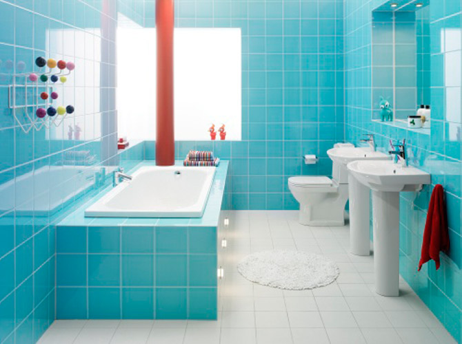 Repair bathroom tile